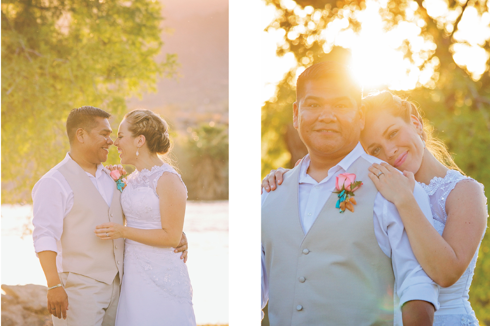 Wedding-River-Arizona-Sun