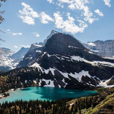 glacier national park lake