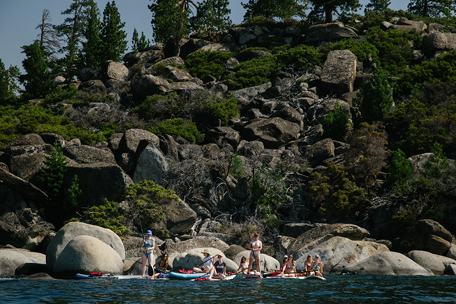 group of girls on lake tahoe