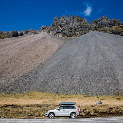 camping car in iceland