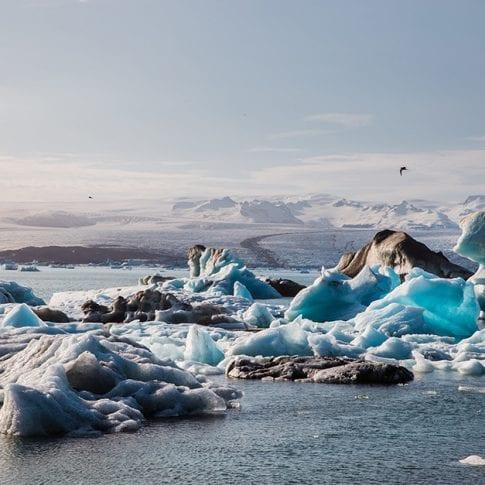 icebergs in iceland