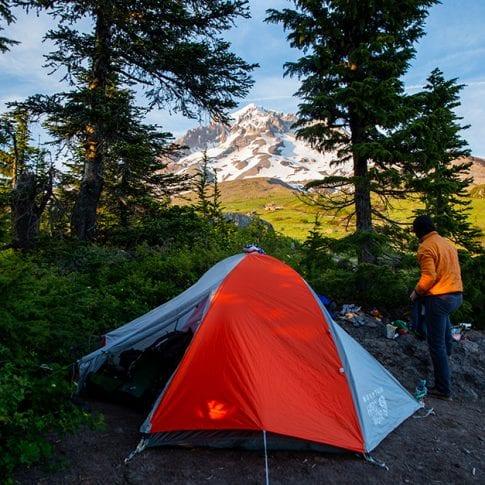 campsite at mount hood