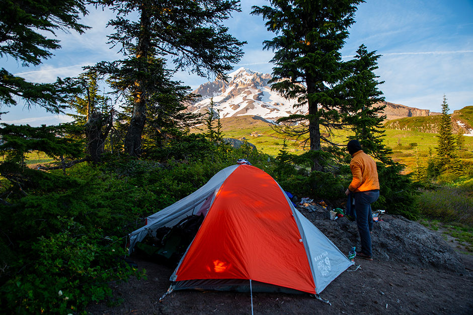 campsite at mount hood
