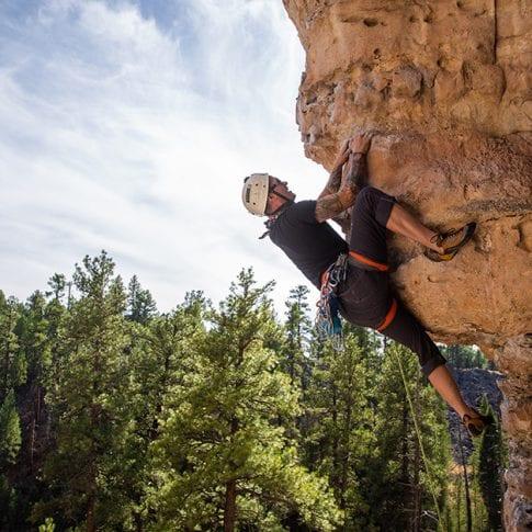 man climbing in flagstaff