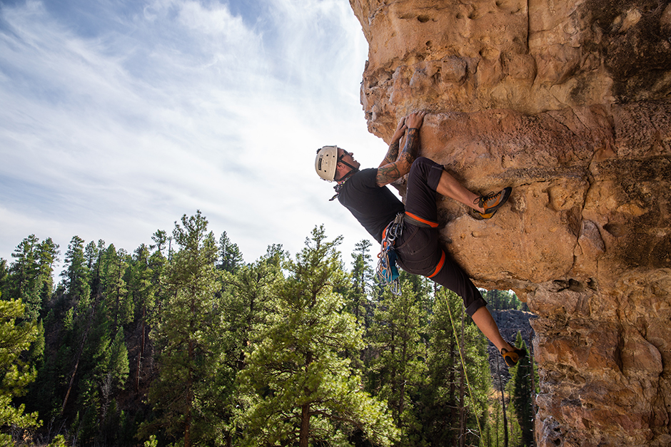 man climbing in flagstaff